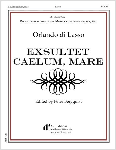 Lasso: Exsultet caelum, mare