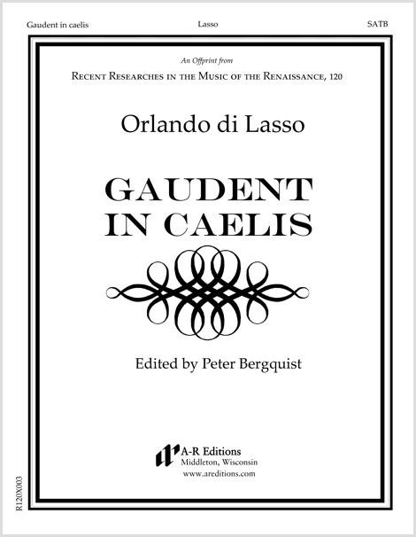Lasso: Gaudent in caelis
