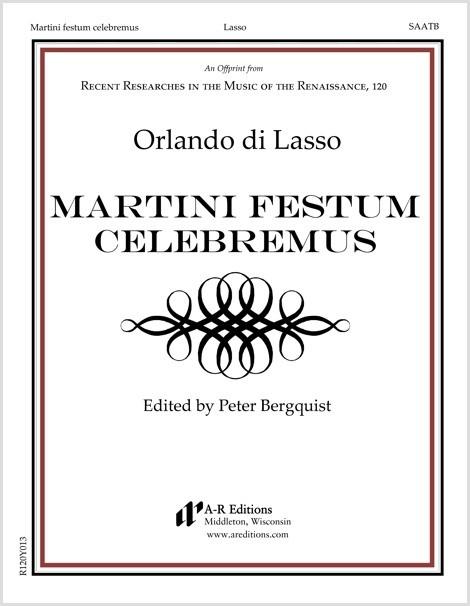 Lasso: Martini festum celebremus