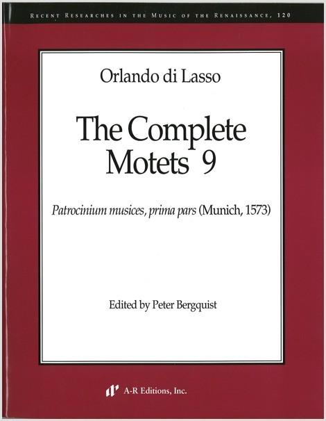 Lasso: Complete Motets 9