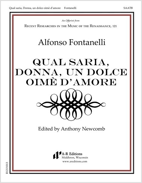 Fontanelli: Qual saria, Donna, un dolce oimè d'amore