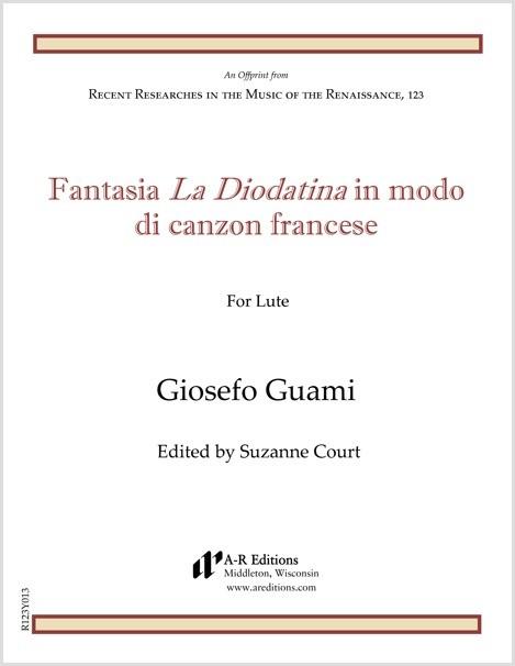 Guami: Fantasia La Diodatina in modo di canzon francese