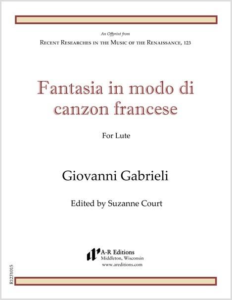 Gabrieli: Fantasia in modo di canzon francese