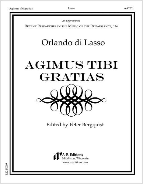 Lasso: Agimus tibi gratias