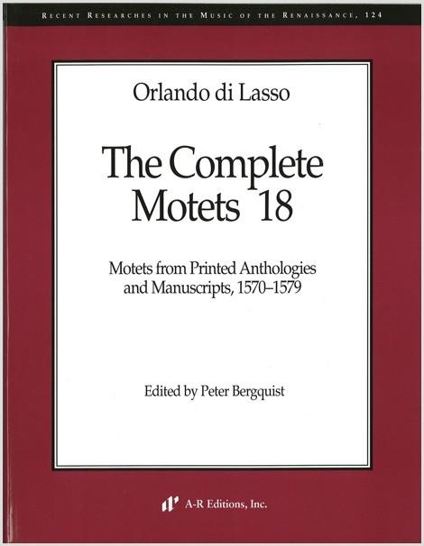 Lasso: Complete Motets 18