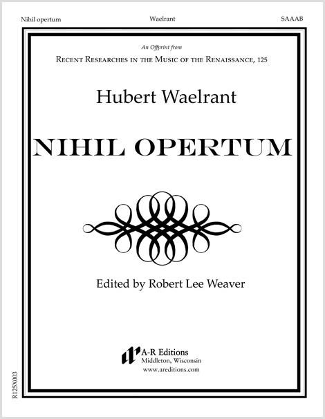 Waelrant: Nihil opertum