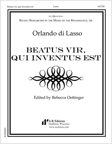 Lasso: Beatus vir, qui inventus est