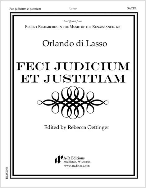 Lasso: Feci judicium et justitiam