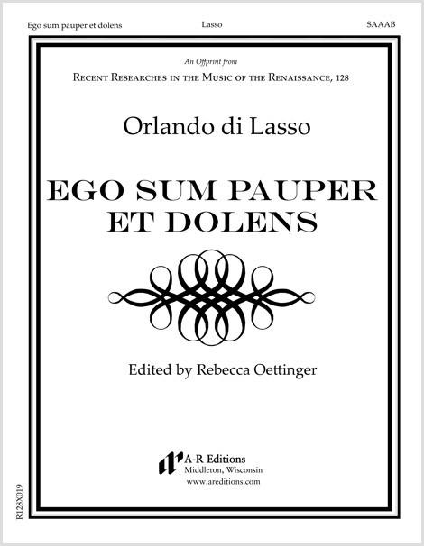 Lasso: Ego sum pauper et dolens