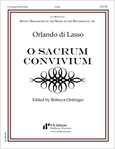 Lasso: O sacrum convivium