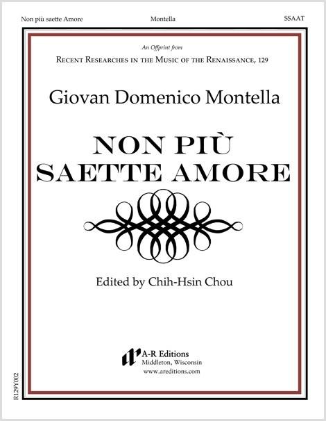 Montella: Non più saette Amore