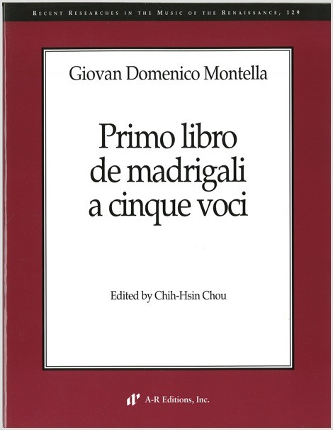 Montella: Primo libro de madrigali a cinque voci