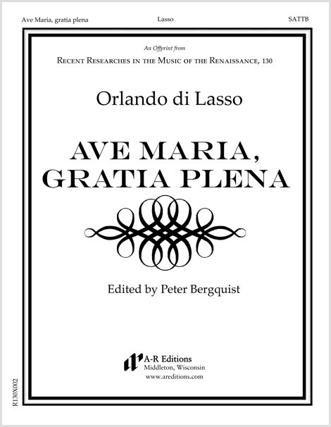 Lasso: Ave Maria, gratia plena