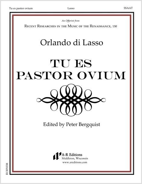 Lasso: Tu es pastor ovium