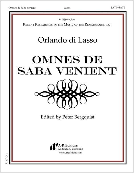 Lasso: Omnes de Saba venient