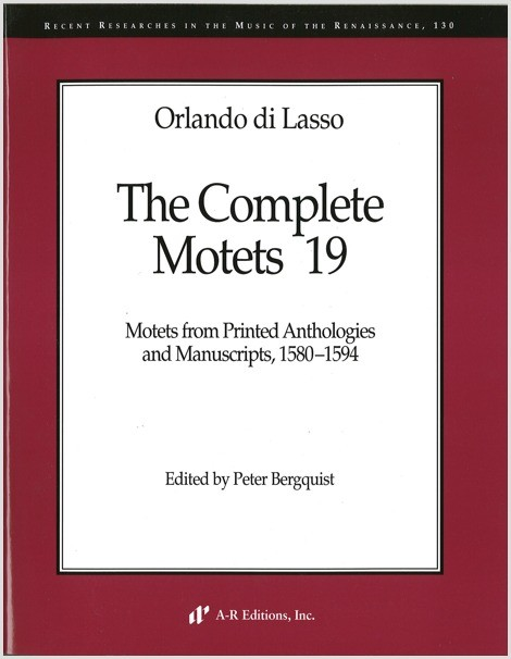 Lasso: Complete Motets 19
