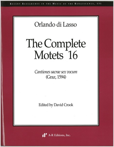 Lasso: Complete Motets 16