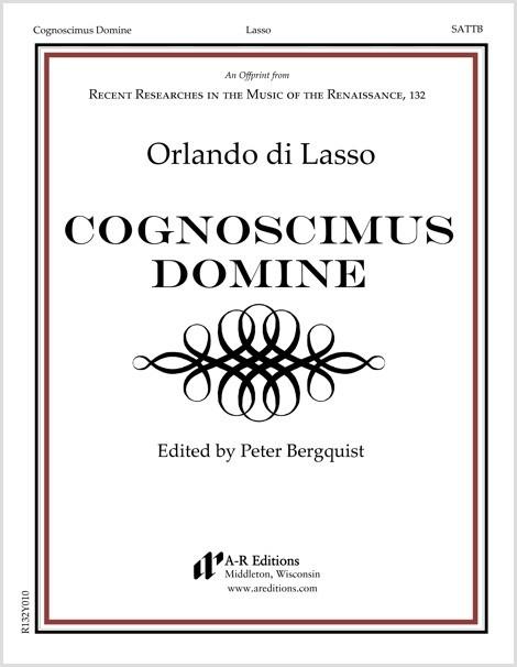 Lasso: Cognoscimus Domine