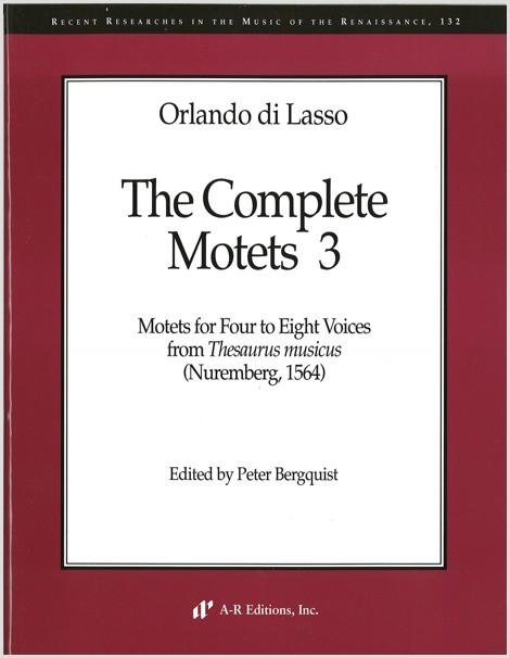 Lasso: Complete Motets 3