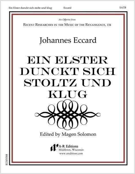 Eccard: Ein Elster dunckt sich stoltz und klug