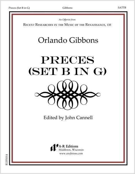 Gibbons: Preces (Set B in G), Orlando Gibbons