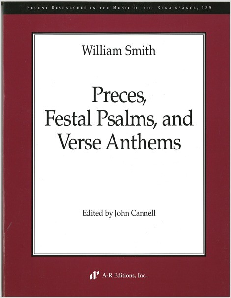 Smith: Preces, Festal Psalms, and Verse Anthems