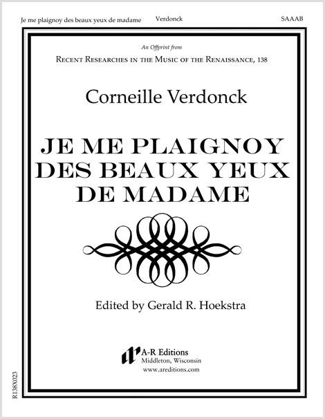 Verdonck: Je me plaignoy des beaux yeux de madame