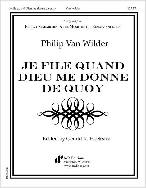 Van Wilder: Je file quand Dieu me donne de quoy