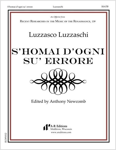 Luzzaschi: S'homai d'ogni su' errore