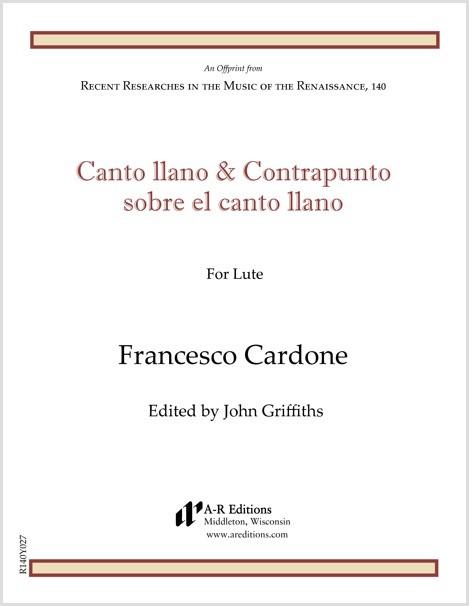 Cardone: Canto llano e Contrapunto sobre el canto llano