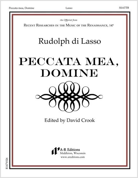Lasso, R.: Peccata mea, Domine