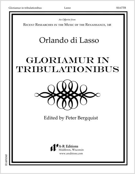 Lasso: Gloriamur in tribulationibus