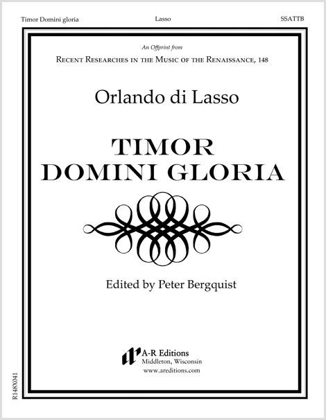 Lasso: Timor Domini gloria