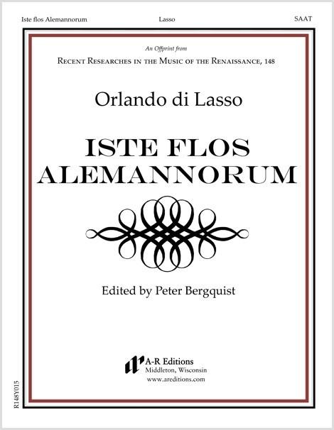 Lasso: Iste flos Alemannorum