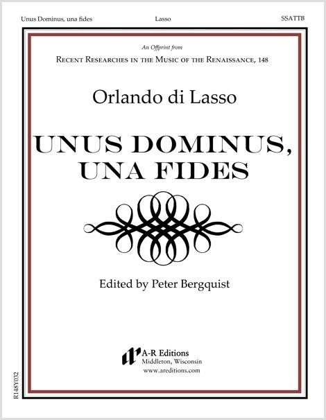 Lasso: Unus Dominus, una fides