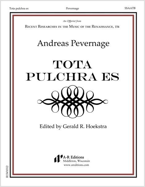 Pevernage: Tota pulchra es