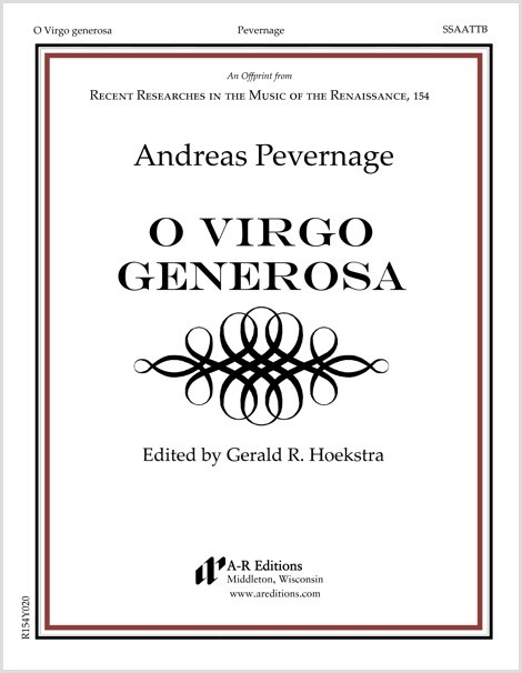 Pevernage: O Virgo generosa