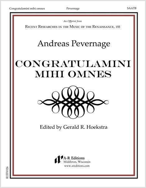 Pevernage: Congratulamini mihi omnes