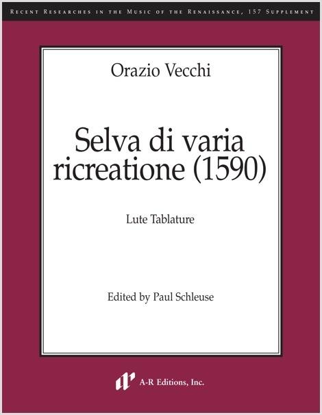 Vecchi: Selva di varia ricreatione (1590) (SUPPLEMENT)