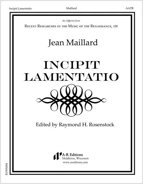 Maillard: Incipit Lamentatio