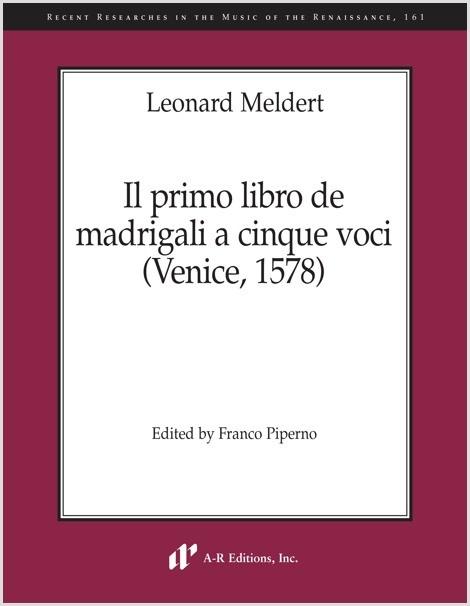 Meldert: Il primo libro de madrigali a cinque voci