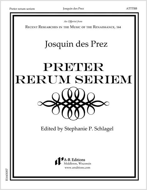 Josquin: Preter rerum seriem
