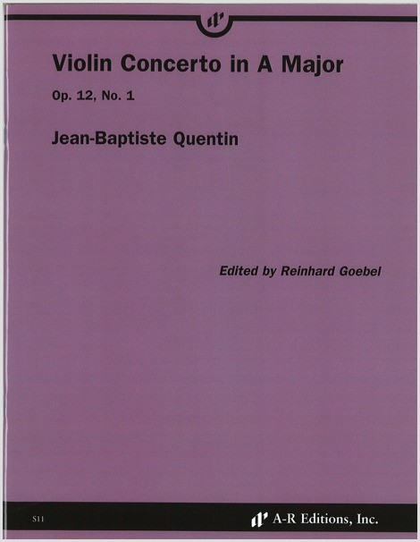 Quentin: Violin Concerto in A Major, Op. 12, No. 1
