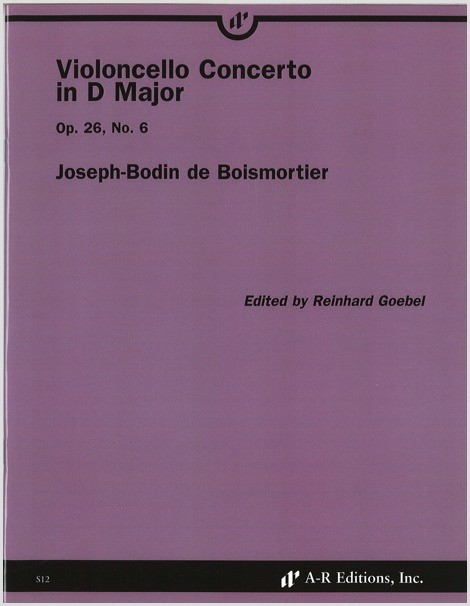 Boismortier: Violoncello Concerto in D Major, Op. 26, No. 6