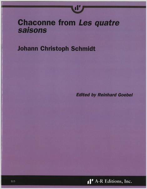 Schmidt: Chaconne from Les quatre saisons
