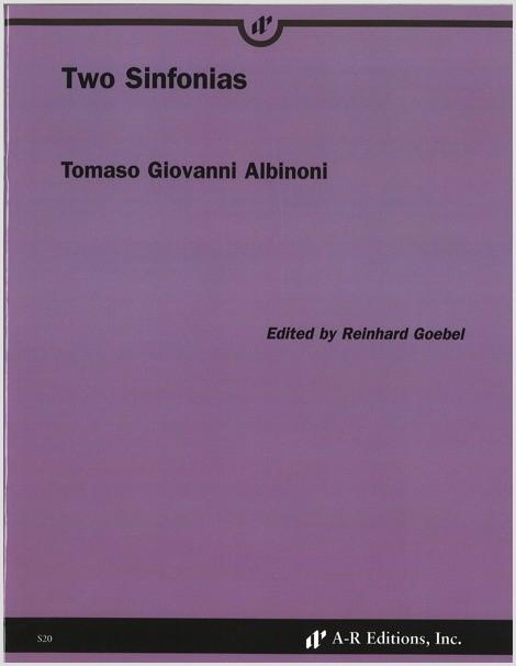 Albinoni: Two Sinfonias