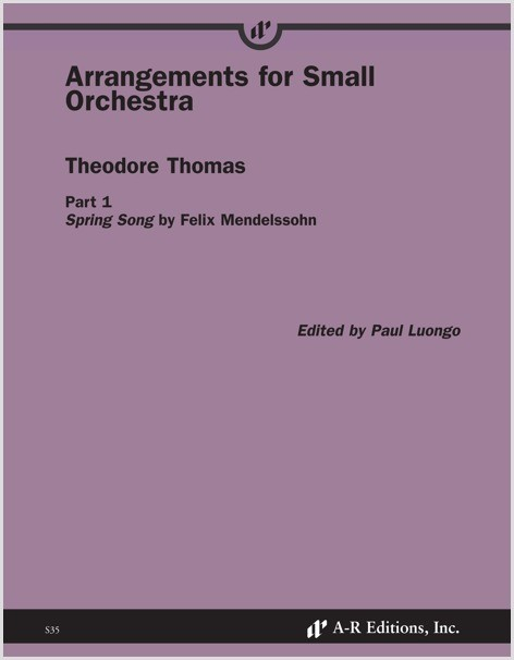 Thomas: Arrangements for Small Orchestra, Part 1