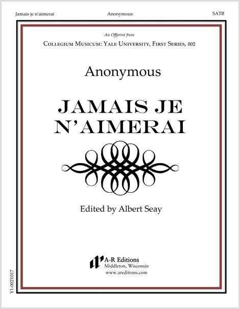 Anonymous: Jamais je n'aimerai
