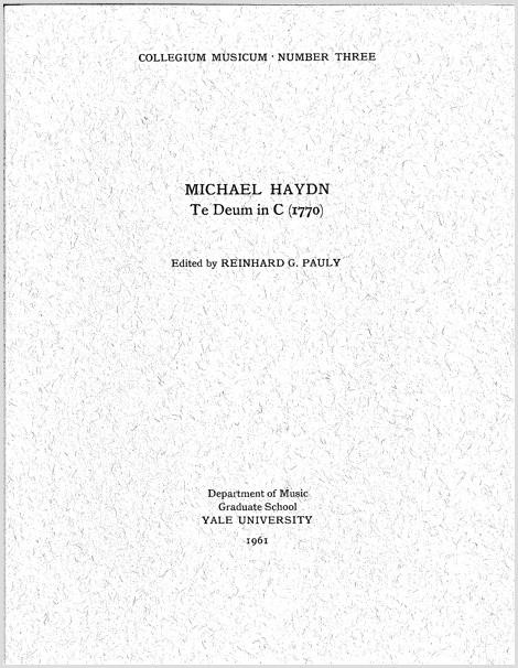 Haydn, M.: Te Deum in C (1770)