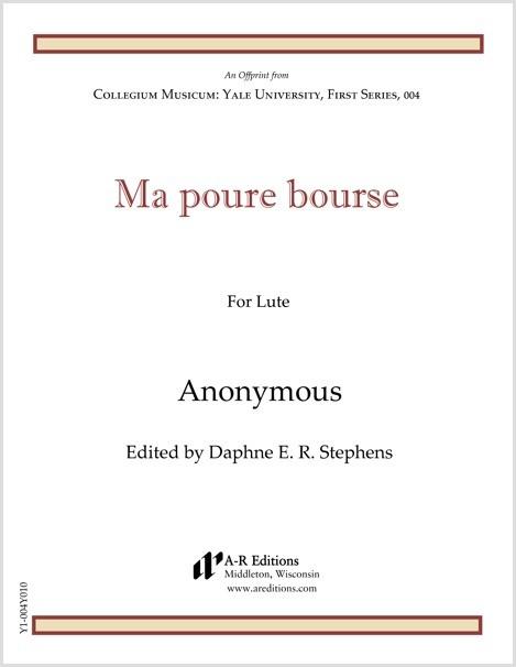Anonymous: Ma poure bourse